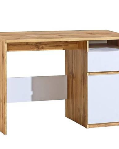 Písací stôl Arca AR7 Dub Wotan/Biely
