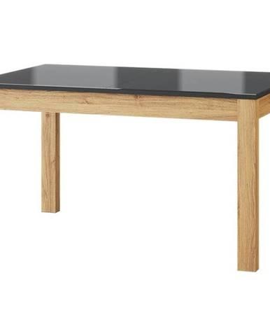 Jedálenský stôl 136-210 Kama 40 dub camargue/čierna mat