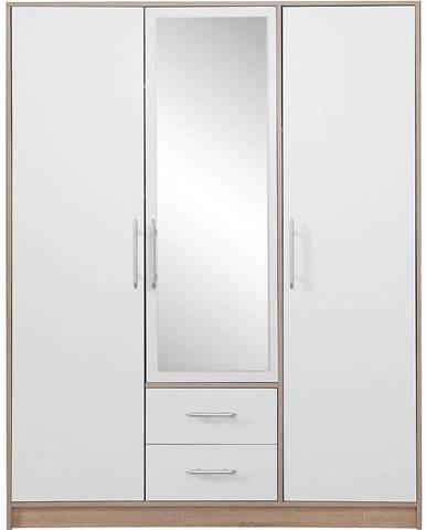 Skriňa Smart SRl2 150 cm dub sonoma/biela