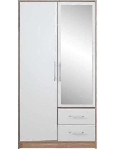 Skriňa Smart SRl3 100 cm dub sonoma/biela