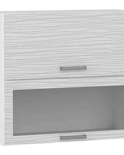 MERKURY MARKET Skrinka do kuchyne Megan White Hologram Line WS80 GRF/2 SD