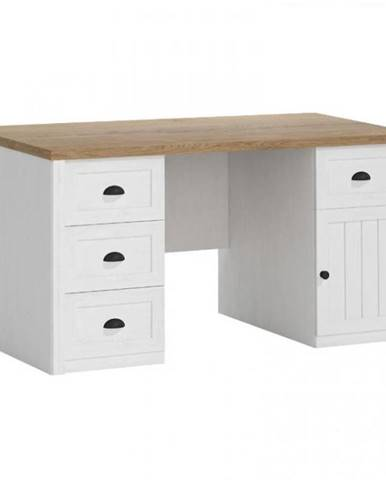 Písací stôl Prowansja B1 borovica andersen/dub lefkas