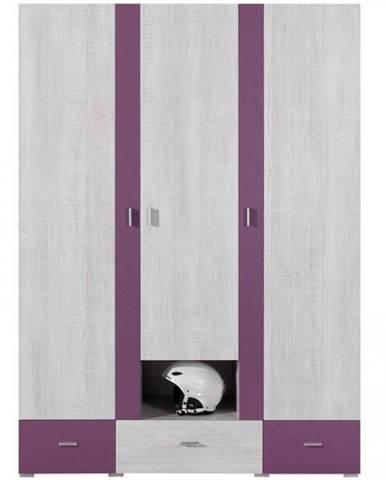Skriňa Next NX-1 borovica biela/viola 140 cm