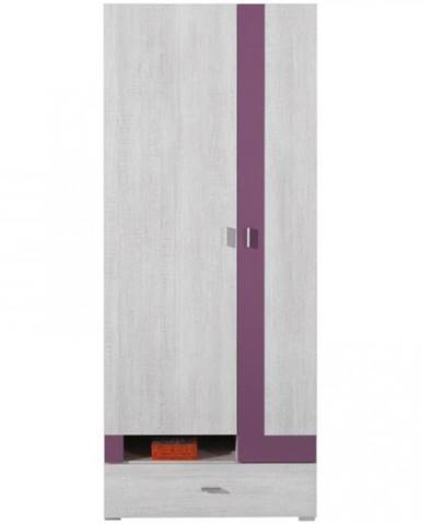 Skriňa Next NX-3 80 cm borovica biela/viola