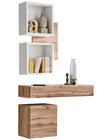 Predsieňový nábytok Easy III wotan/biely