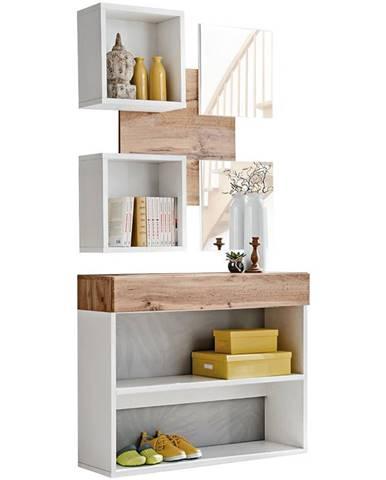 Predsieňový nábytok Easy IV wotan/biely