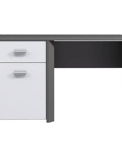 MERKURY MARKET Písací stôl Hey sivá / biela