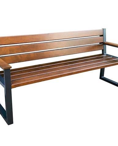 Moderná lavica s operadlom orech