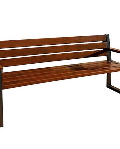 Moderná lavica s operadlom  palisander
