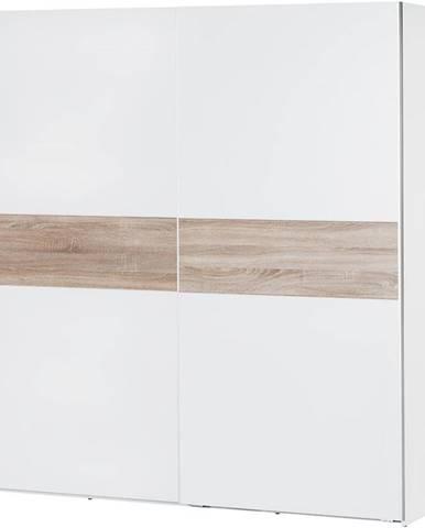 Skriňa 2D Wenecja 01 biely/dub sonoma