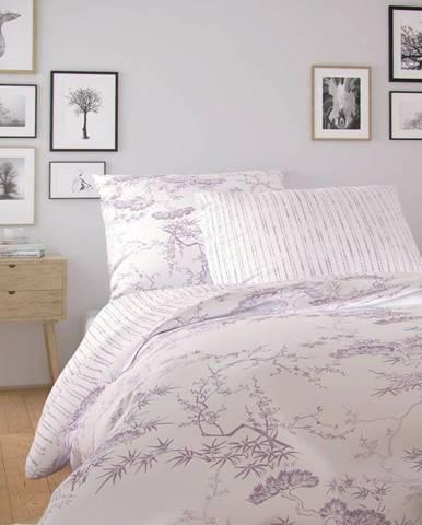 Kvalitex Bavlnené obliečky Nordic Disa fialová, 140 x 220 cm, 70 x 90 cm