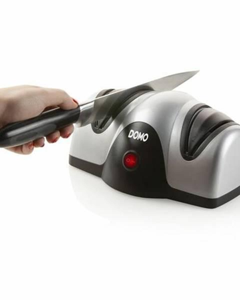 Domo DOMO DO9204KS stříbrná / Elektrický brousek na nože / 40W / 2 brusné kotouče (DO9204KS)