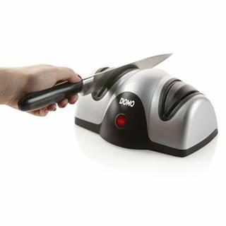 DOMO DO9204KS stříbrná / Elektrický brousek na nože / 40W / 2 brusné kotouče (DO9204KS)
