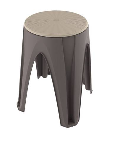 Otočná stolička Girotondo hnedá, 35 x 35 x 45,5 cm