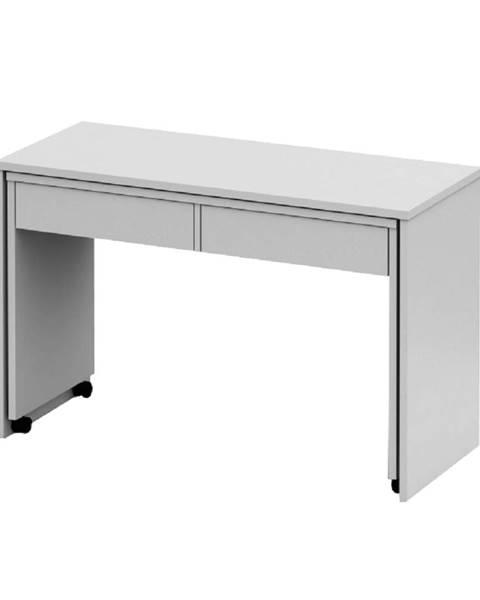 Kondela Rozkladací PC stôl so šuplíkmi biela VERSAL NEW