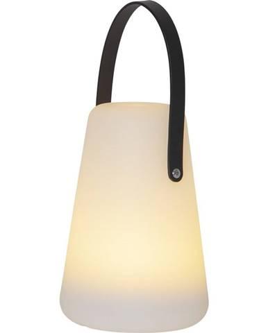 Biely LED lampáš Best Season Linterna, výška 29 cm