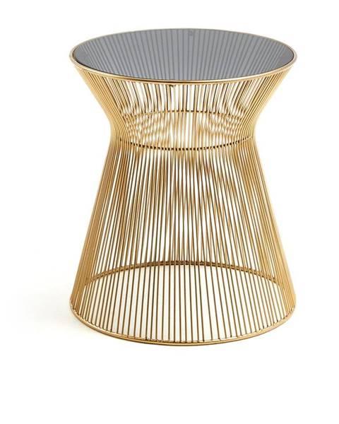 La Forma Odkladací stolík v zlatej farbe La Forma Jolene, výška 40 cm