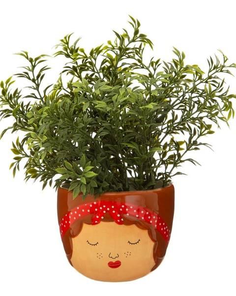 Sass & Belle Hnedo-béžový kvetináč Sass & Belle My Kind of People Libby