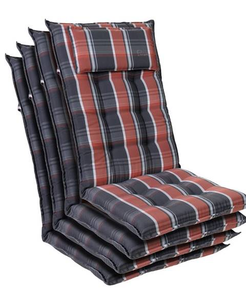 Blumfeldt Blumfeldt Sylt, čalúnená podložka, podložka na stoličku, podložka na vyššie polohovacie kreslo, vankúš, polyester, 50 × 120 × 9 cm