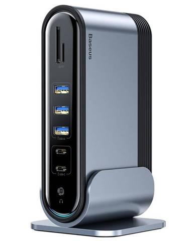 Dokovacia stanica Baseus USB-C/3,5mm jack, 4x USB-C + PD, 5x USB,