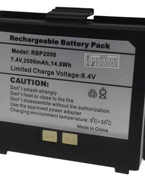 Cashino Náhradní LI-ION baterie 2000mAh k přenosným tiskárnám PTP-II a