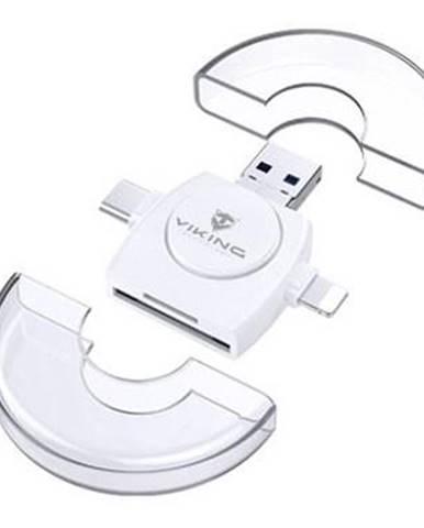 Čítačka pamäťových kariet Viking SD, Micro SD 4v1, OTG, s koncovkou