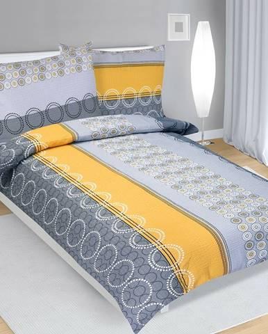 Bellatex Krepové obliečky Krúžky, 140 x 200 cm, 70 x 90 cm