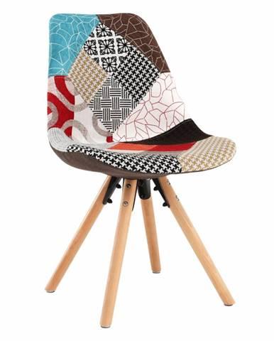 Jedálenská stolička patchwork farebná GLORIA
