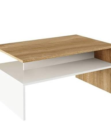 Konferenčný stolík dub sonoma/biely DAMOLI