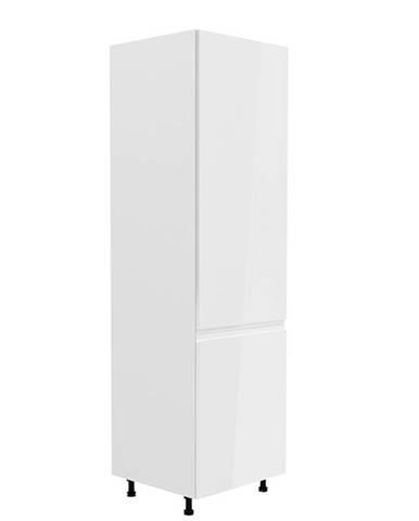 Potravinová skrinka biela/biela extra vysoký lesk pravá AURORA D60R