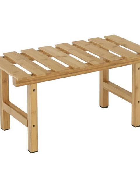 Kondela Príručný stolík k vírivke v tvare obdĺžnika prírodný bambus VIREO TYP 4 rozbalený tovar