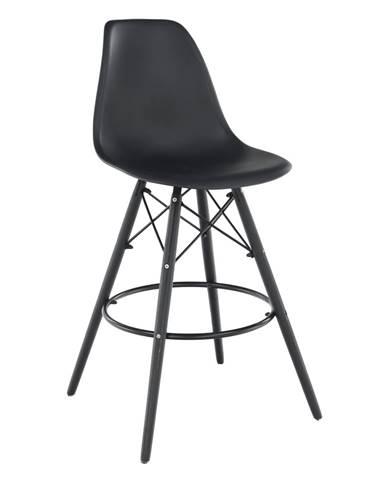 Barová stolička čierna CARBRY NEW rozbalený tovar