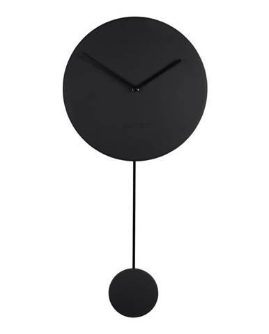 Čierne nástenné hodiny Zuiver