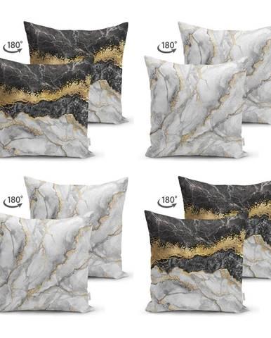 Súprava 4 obliečok na vankúše Minimalist Cushion Covers Marble, 45 x 45 cm