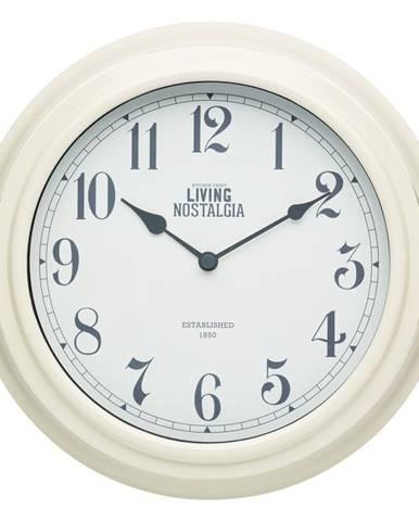 Krémové nástenné hodiny Kitchen Craft Living Nostalgia, ⌀ 25,5 cm