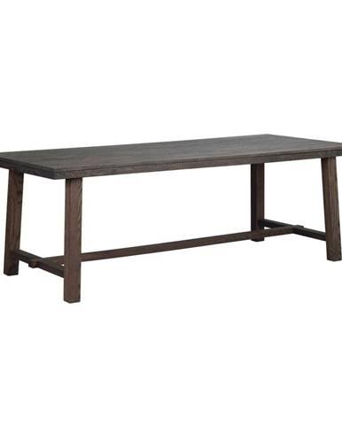 Tmavohnedý dubový jedálenský stôl Rowico Brooklyn, 220 x 95 cm