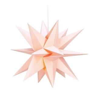 Ružová svietiaca hviezda Markslöjd Skilling, ø 50cm