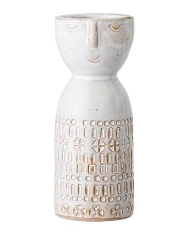 Biela váza z kameniny Bloomingville Geometric
