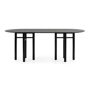 Čierny oválny jedálenský stôl Teulat Junco, dĺžka 200 cm