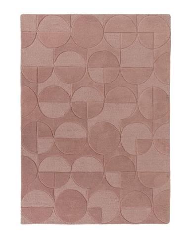 Ružový koberec z vlny Flair Rugs Gigi, 120×170cm