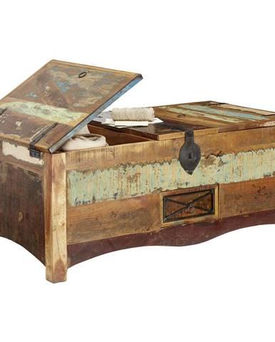 Landscape TRUHLICA, staré drevo, viacfarebná, 110/45/60 cm - viacfarebná
