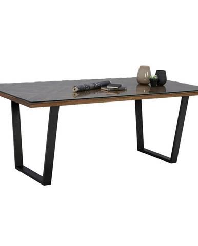 Ambia Home JEDÁLENSKÝ STÔL, akácia, mangové drevo, hnedá, číre, čierna, 200/100/76 cm - hnedá, číre, čierna