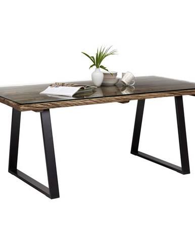 Ambia Home JEDÁLENSKÝ STÔL, masívne, recyklované drevo, prírodné farby, čierna, 190/95/76 cm - prírodné farby, čierna