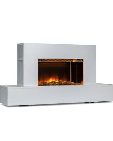 Klarstein Heat 'n Beat, elektrický krb, 900/1800 W, LED, bluetooth reproduktor, biely