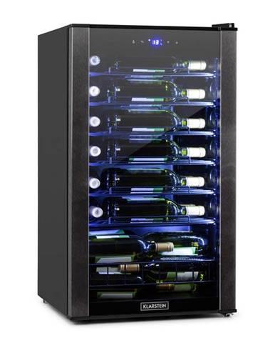 Klarstein Vinomatica, chladnička na víno, 95l, dotykové ovládanie, 85W, 4-18°C, čierna