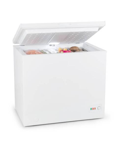 Klarstein Klarstein Iceblokk Eco, mraziaci box, A+++, 200 l, 2 závesné koše, kolieska, biely