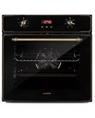 Klarstein Elizabeth, vstavaná rúra, retro dizajn, 6 funkcií, 50 – 250 °C, čierna