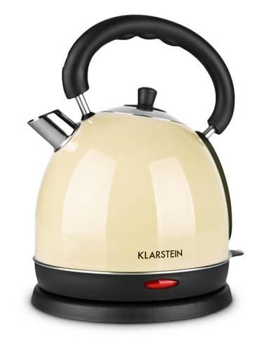 Klarstein Teatime, krémový, 1,8 l, 2200 W, varič vody, čajník, ušľachtilá oceľ