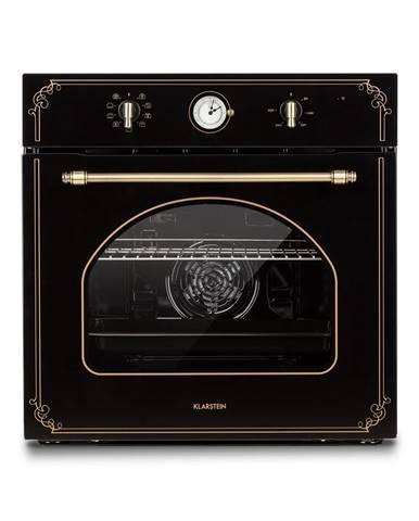Klarstein Victoria, vstavaná elektrická rúra, retro vzhľad, 9 funkcií, 50 – 250 °C, čierna