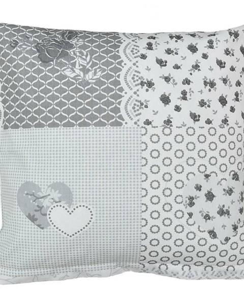 Bellatex Bellatex Obliečka na vankúšik Srdce patchwork, 40 x 40 cm